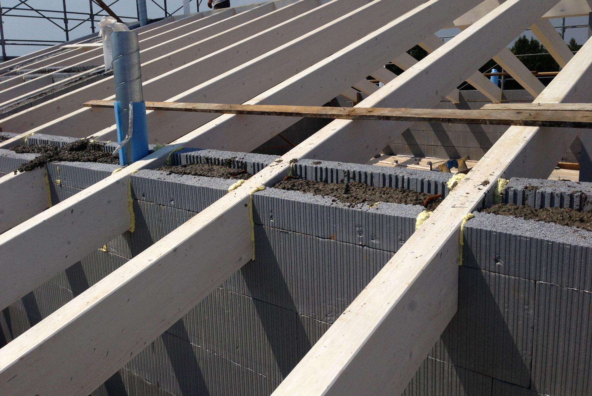 Solaio di copertura e tetto in legno